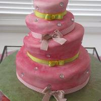 Topsy Turvy Pink Princess Birthday Cake