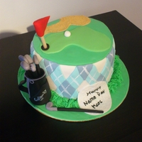 Golf Theme, Name Day Cake   This is a Name day Cake for someone who like Golf