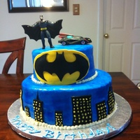 Batman Fondant Cake batman fondant cake, i seen someones cake and i try to do something similar im still new on this :).....