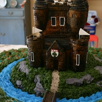 Scottish Castle Cake