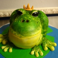 Princess Frog Cake. This cake was for a little girl turning Four on leap year!