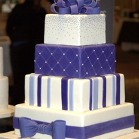 Modern Violet Square Cake   display dummie cake for bridal show