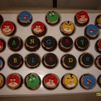 Angry Birds Cupcakes My first order for Angry Birds cupcakes. These suckers take forever to make!