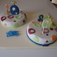 Little Monster Twins I made this cakes for my boy`s first birthday! It was a simple chocolate cake. Thank you CC for the great ideas! TFL