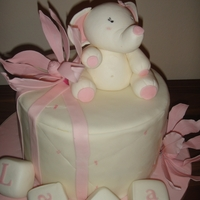 "Elephant Girl I used two 10"" cakes- one filled with a yoghurt cream and the other with an apple cream. The cake is covered with fondant, lilies with..."