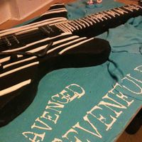 Avenged Sevenfold Guitar Cake