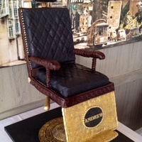 Vintage Barbers Chair Grooms Cake The Seat Was Vanilla Bean Rum Cake With Vanilla Rum Smbc The Back And Headrest Were Homemade Browned Vintage Barber's chair groom's cake. The seat was vanilla bean rum cake with Vanilla rum SMBC . The back and headrest were...