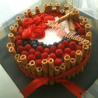 Fruit Cake With Strawberry Filling