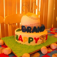 Baseball Birthday Cake Baseball cake I made for my son.