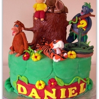 Jungle Book Cake All Edible, Hand made figures.