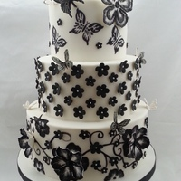 Brush Embroidery Flowers Directly On Cake And Gumpaste Flowers With Brush Embroidery Butterflies Are Gumpaste Using Patchwork Cutters Fo Brush embroidery flowers directly on cake and gumpaste flowers with brush embroidery. Butterflies are gumpaste using patchwork cutters....