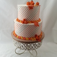 I Used The Press Ice Swiss Dot Tool For This One Dots Are Made With Royal Icing Modeling Chocolate Pumpkins With Whole Cloves Used For The... I used the Press Ice Swiss Dot tool for this one. Dots are made with royal icing. Modeling chocolate pumpkins with whole cloves used for...