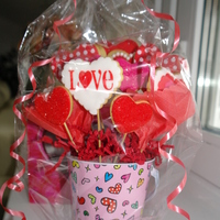 Valentine Cookie Bouquet Valentine cookie bouquet