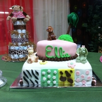 Jungle Jill Baby Shower Cake
