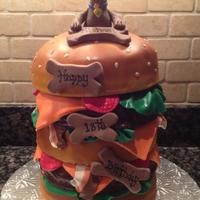 Birthday Cakes *5 tiered 18th Birthday CakeScooby Doo Inspired ....Chocolate Layers filled with Extreme Chocolate Filling !