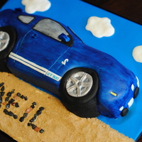 Mustang Cake flat carved chocolate