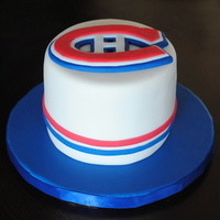 Montreal Canadiens Cake 6in round for a habs fan!