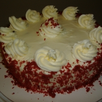 Red Velvet Cheesecake Got this recipe from the crumb boss...its amazing! Its a rd velvet cake topped with red velvet cheesecake iced with cream cheese frosting...