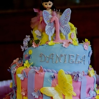 Topsy Turvey Cake  Butterfly theme cake. Dominican cake filled with pinapble and chocolate cake filled with double chocolate buttercream filling. all...