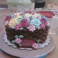 Wilton Course 2 This is my grand finale cake from my Wilton course 2 class. The basket weave was required, but the overall cake design was up to us. I...