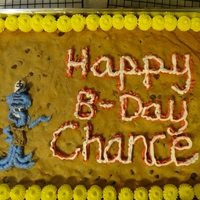 Spongebob's Squidward Cookie Cake