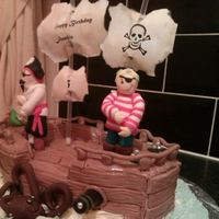 My First Ever Carved Cake My Version Of A Pirate Ship And Pirates   My first ever carved cake. My version of a pirate ship and pirates