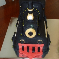 Steam Train   Chocolate mudcake with fondant RTR icing - used tylose & fondant to make all the accents