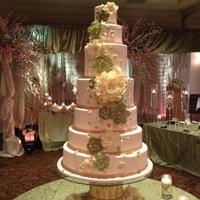 Green And Ivory Wedding Cake