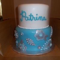 Tiffany Meet Paisley! And the title pretty much sums up my instructions for this cake. Tiffany blue and paisley. I find it easier to work with fondant and it was...