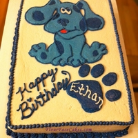 Blues Clues Cake   Spice Cake with Buttercream Filling