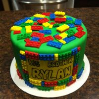 Lego Cake Inside Is Vanilla Cake And Buttercream Lego cakeInside is vanilla cake and buttercream