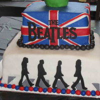 Beatles Birthday Cake In our house, there are lots of Beatles fans. When my son asked for a Beatles cake - I was more than happy to make it!
