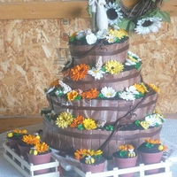 Country Wedding Yep! This is the cake I mentioned in the forum. The Delivery from hell.Yep! To a barn in cow field.