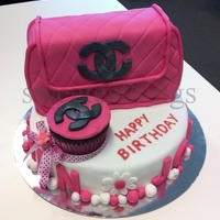Chanel Bag Cake  I made this cake especially for me on my bday last year (I also added my sister's name coz our bday falls in the same month). My work...