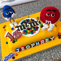 Mampms Themed Cake For My Sons Birthday   M&M's themed cake for my son's birthday.