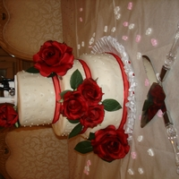 Lady In Red   Wedding cake