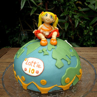 For My Little Niece She Is Quite A Traveler So I Made Her This World Globe Filled With Rose Levy Beranbaums Woodys Lemon Luxery Layer C  For my little niece. She is quite a traveler, so i made her this world globe.Filled with Rose Levy Beranbaums 'Woody's lemon...