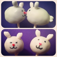 Bunny Cake Pops! Kissing bunnies ;)