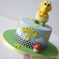 Koopa Troopa Cake   My son's 5th birthday cake. His favourite character is koopa Troopa