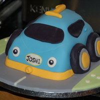 1St Birthday Cake My Little Lad Just Loves His Little Blue Car From The Early Learning Centre 1st birthday cakeMy little lad just loves his little blue car from the early learning centre!