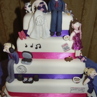 My First Ever Wedding Cake My Brief Was To Have The Bride And Groom And Their Three Children With All Their Favourite Things Around Them I... My first ever wedding cake!My brief was to have the bride and groom and their three children with all their favourite things around them.It...
