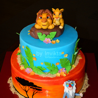 Lion King Cake Handmade cake toppers.