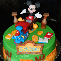 Mickey Mouse Toontown Inspired Birthday Cake.