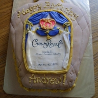 Crown Royal crown royal bottle cake