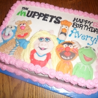 Muppets Muppets themed cake with fondant characters