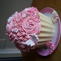 Giant Cupcake Trial run of a giant Cupcake, never made one before and have been asked to make someone one.