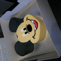 Mickey Mouse Victoria sponge cake covered in buttercream