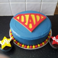Fathers Day Super Dad Cake