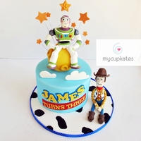 Toy Story Buzz & Woodie Cake  Hi, everyone. This is Jame's third birthday cake.It is my third time making toy story theme cake.( I made a Jessie cake and Woodie...