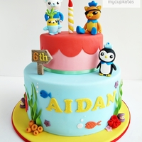Octonauts Cake  Aidan's 6th birthday cake Vanilla cake with strawberry jam & vanilla butter cream The design is based on the cartoon, Octonauts...